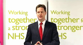 Fighting the Tories for a fairer NHS: Deputy prime minister Nick Clegg promises changes to the regressive Mr Lansley