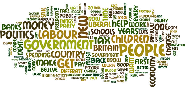 A wordle of Nick Clegg's speech today
