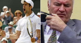 The face of good, and the face of evil: Wimbledon champion Novak Djokovic and war criminal Ratko Mladic