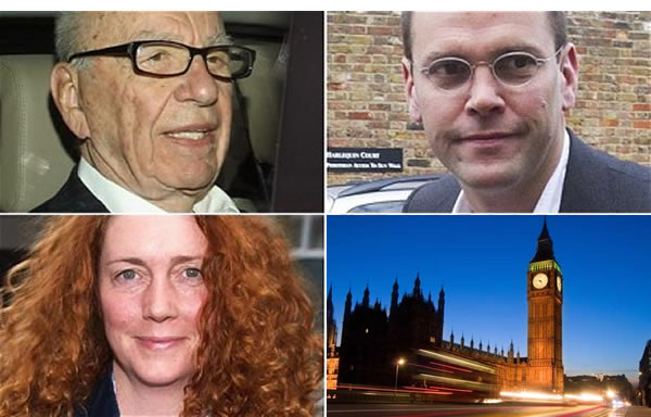 Scum International: Rupert and James Murdoch have shown contempt for Parliament by refusing to appear before MPs, while Rebekah Brooks has said she will, belatedly, comply