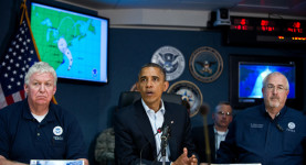 President Barack Obama leads the Hurricane Sandy response