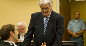 Evil in the dock: Radovan Karadzic in court