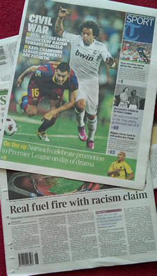 El Race Row-ico: Real and Barca slug it out in the papers