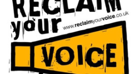 "The ""Reclaim Your Voice"" campaign; click to enter"