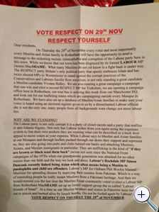Disgraceful: The Rotherham leaflet; click to enlarge