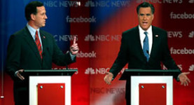 The New Hampshire GOP debate: Rick Santorum takes on Mitt Romney
