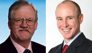 Darlings of the climate denying far right: Tory MEPs Roger Helmer and Daniel Hannan