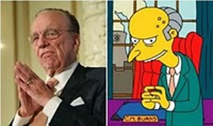 Real life villian: Rupert Murdoch is no Mr Burns - he