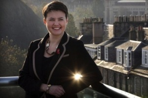 "Top tartan Tory Ruth Davidson: ""Cameron's not my boss, I just coincidentally have exactly the same policies as him. Raaaaaah!"""
