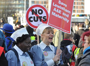 The Save Lewisham Hospital protest march at the weekend