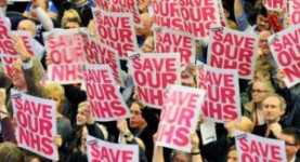 "Fighting Lansley: The ""Save Our NHS"" rally in central London yesterday"