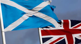 Better together: The Scottish Saltire and the Union Flag