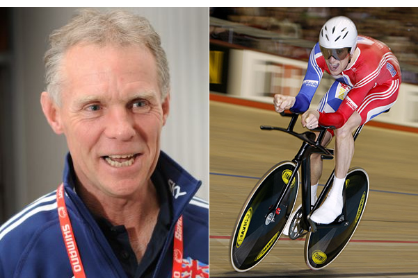 Injured: Shane Sutton and Bradley Wiggins