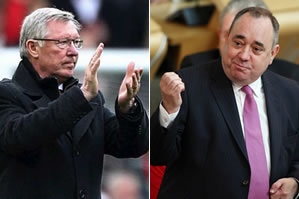 Sir Alex Ferguson and Alex Salmond