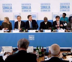 David Cameron and world leaders gather at The Somalia Conference, at Lancaster House, London