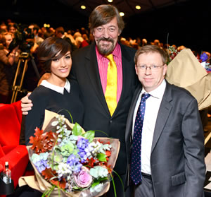 Stephen Fry, President of Mind, at the awards evening on Monday