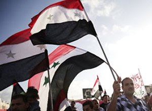 Trying to topple a dictator: Syrians protest against the vile Bashar al-Assad
