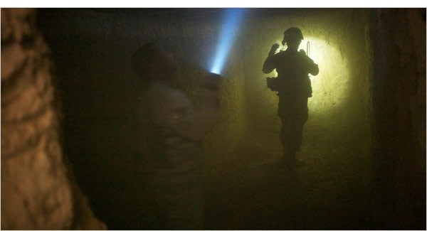 Fighting for our freedom: Coalition forces raid a Taliban bunker in Kandahar province, Afghanistan