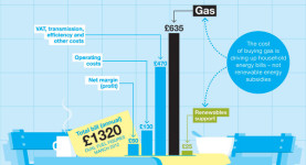 The cost of gas is the reason household energy bills are high