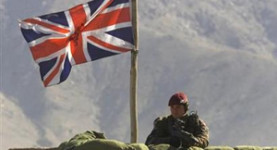 A UK command post in Afghanistan