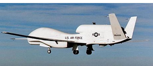 A US drone hovering over Waziristan