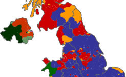 A sea of angry blue: The United Kingdom constituency map, General Election 2010; click through for detailed results