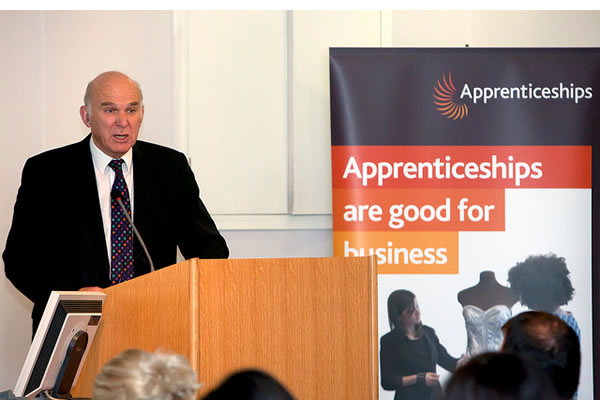 Vince Cable implores businesses to take on apprentices