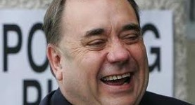 Fatty Salmond: Could Gordon Brown wipe the smile off his face?