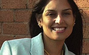 Demented, swivel-eyed right-winger Priti Patel: Never mind the facts, feeeeeeel the ideology!