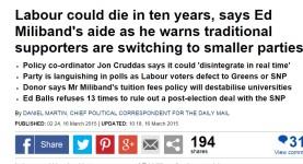 Mail says Labour dead