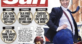 The Sun budget front page