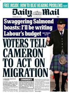 Mail SNP front 23 April