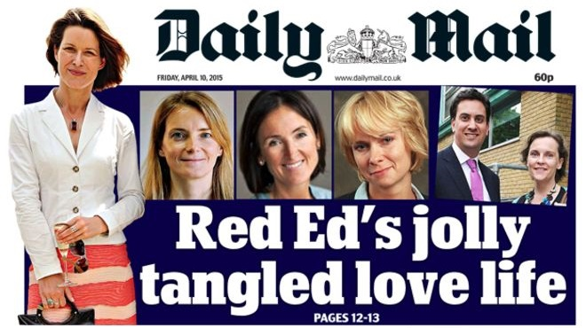Red Ed love life Mail cover CROP