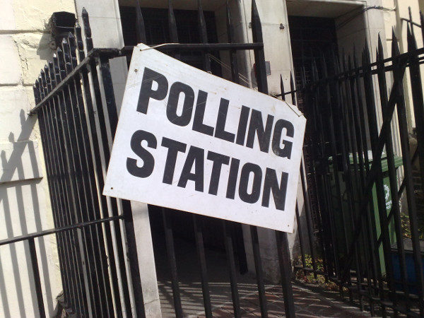 polling station fence