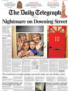 Telegraph eve of election