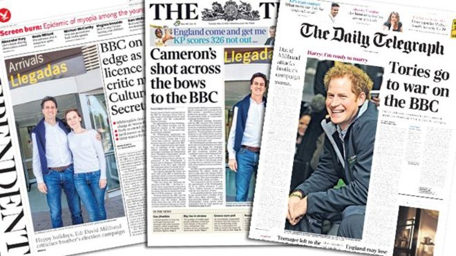Tory war on BBC papers