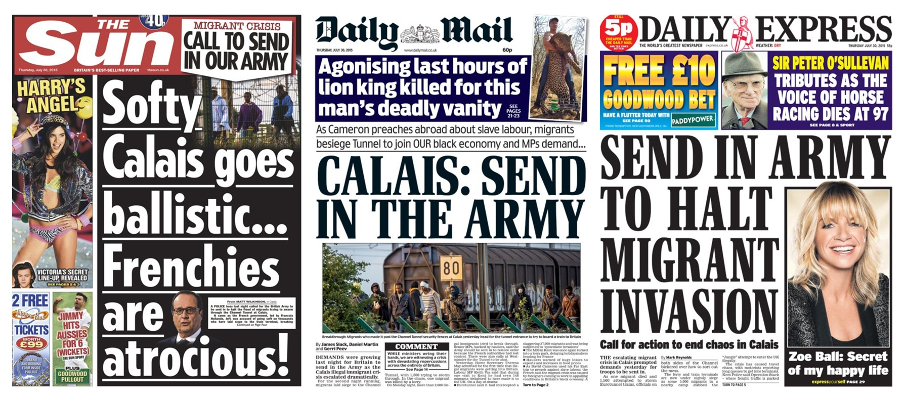 Mail on sunday s shady calais migrants in hotels story is willfully