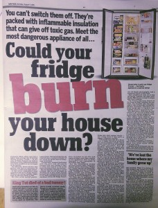 Fear the fridge Daily Mail 3 8 15