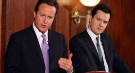 David Cameron and George Osbourne at Northern Rock Conference
