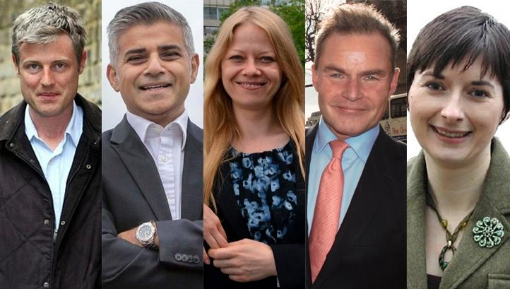 London Mayor candidates 2016