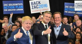 Boris Johnson and David Cameron join Zac Goldsmith on the campaign trail