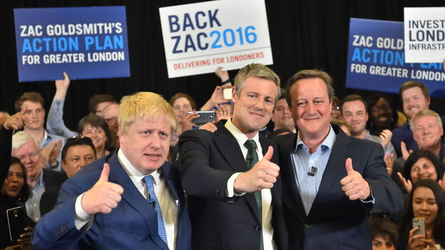 Boris Johnson and David Cameron join Zac Goldsmith on the campaign trail