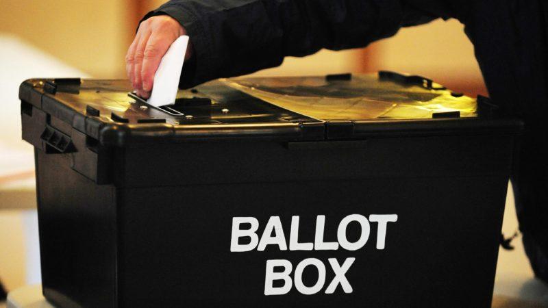Ballot box elections voting