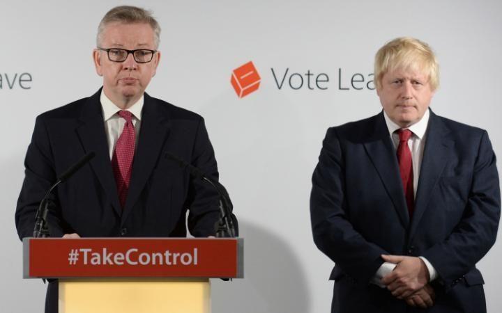 Boris Johnson Michael Gove vote leave