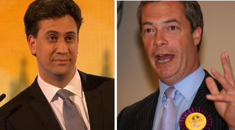 Ed Miliband Nigel Farage