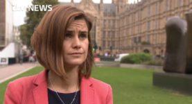 Jo Cox outside parliament