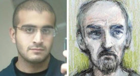 Omar Mateen and Thomas Mair court drawing