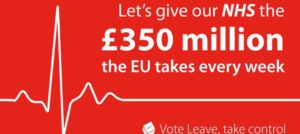 Vote Leave NHS £350 million