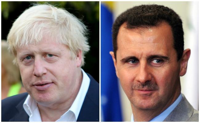 Boris Johnson Assad