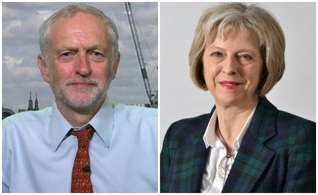 Image result for theresa with jeremy corbyn